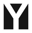 simple elegant logo letter y premium vector image vector image