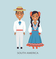 south america culture customs vector image