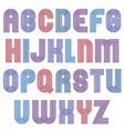 Stripy bright geometric script stylish typeface vector image vector image