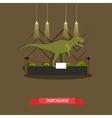 stuffed tyrannosaurus in vector image