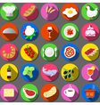 Twenty Five Flat Icon Italian Food Collection vector image