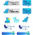 twitter button vector image vector image