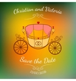 wedding retro carriage with curls over vector image vector image
