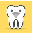 Wisdom tooth with a gray beard and mustache vector image vector image