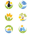 Set - Tropics vector image