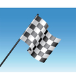 racing flag vector image