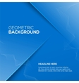 Abstract 3D background blue colour vector image vector image
