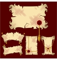 ancient parchment banners vector image
