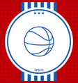 basketball ball line icon vector image vector image
