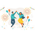 best party card vector image