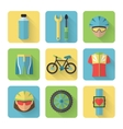 Bicycle Flat Icons Set vector image vector image