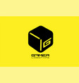 black and yellow game 3d gaming cube business vector image vector image