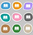 Book symbols Multicolored paper stickers vector image vector image