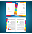 booklet catalog brochure folder colorful line vector image