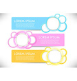 Bright headers collection for any needs vector image vector image