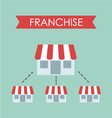 business concept franchise business vector image vector image
