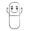 capsules medicine kawaii character vector image vector image