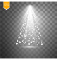 christmas lights isolated on transparent vector image vector image
