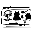 Collection of ancient arms vector image vector image