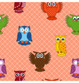 Colourful owl seamless pattern vector image vector image