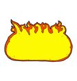 comic cartoon fire border vector image