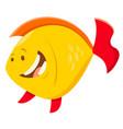 cute cartoon fish animal character vector image vector image