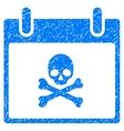 Death Skull Calendar Day Grainy Texture Icon vector image vector image