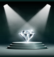 diamond on pedestal vector image