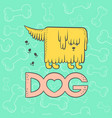dog funny caricature animal cartoon shaggy vector image vector image