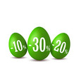 easter egg sale happy eggs 3d template vector image