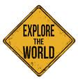 explore world vintage rusty metal sign vector image
