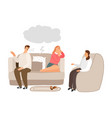 family therapy help vector image vector image