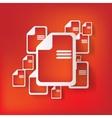 File web icon vector image vector image