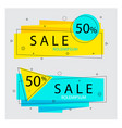 flat geometric banner trendyabstract background vector image vector image