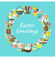 flat style circle template collection easter vector image
