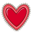 Glossy heart with lace edging vector image vector image