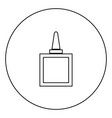 glue black icon in circle outline vector image vector image