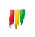 guinea flag on a white vector image