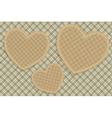 Hearts tartan background vector image vector image