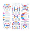infographics marketing graphs financial workflow vector image vector image