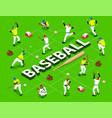 isometric baseball flowchart vector image vector image