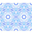 kaleidoscopic pattern light blue star vector image
