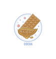 label for products containing cocoa allergen vector image vector image