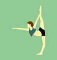 leg stretches yoga pose vector image vector image