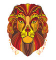 lion colorful vector image vector image