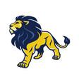 lion logo mascot stance vector image
