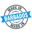 made in barbados blue round vintage stamp vector image vector image
