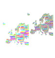 map of continent europe vector image vector image