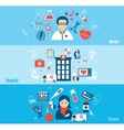Medical Flat Banners Set vector image vector image
