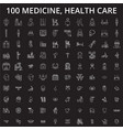 medicine health care editable line icons vector image vector image